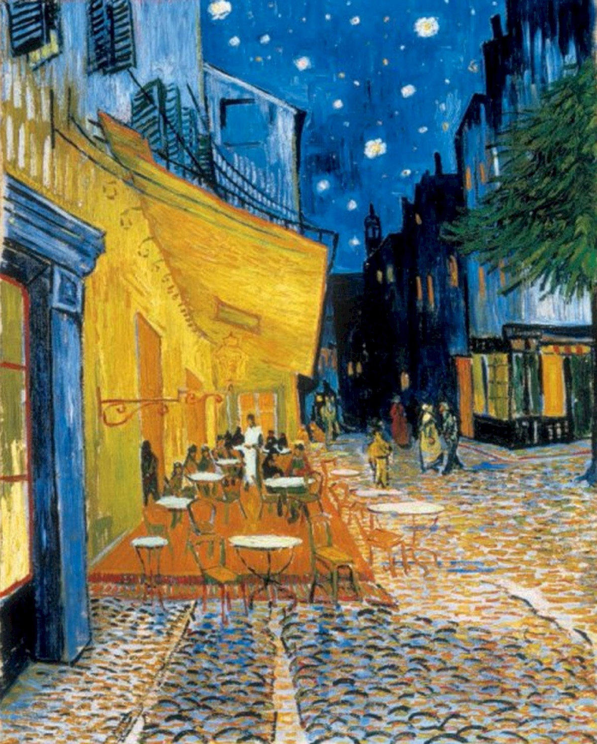 The Cafe Terrace on the Place de Forum in Arles at Night 1888 Vincent Van Gogh